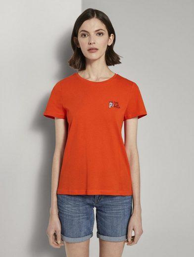 TOM TAILOR T-Shirt »Basic T-Shirt mit kleinem Print«