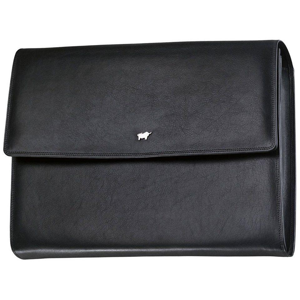 Braun Büffel Golf Collegemappe Leder 35,5 cm in schwarz