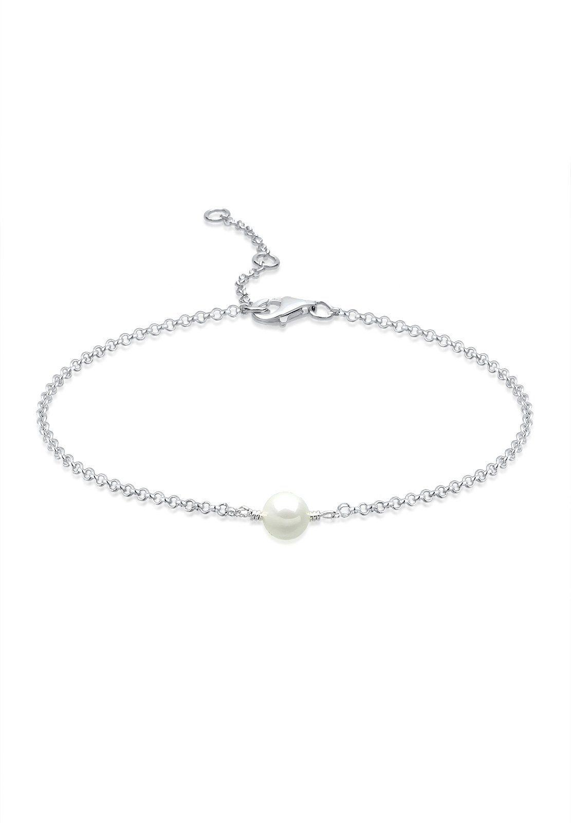 Elli Fußschmuck »Perle 925 Silber«