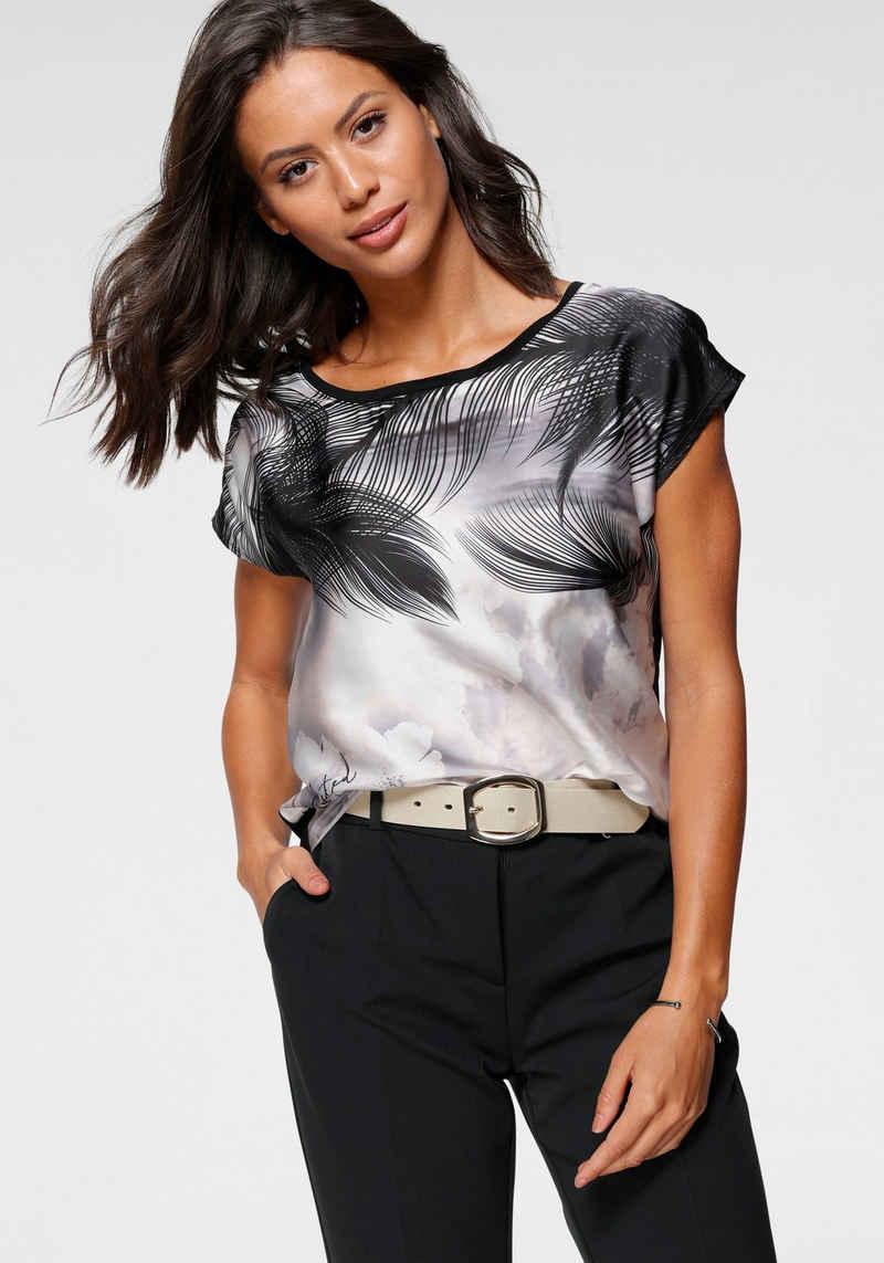 Laura Scott Shirtbluse in modischem Materialmix
