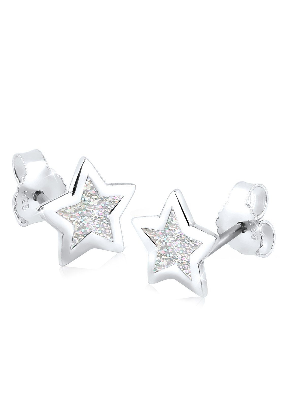 Elli Silber« Astro Online Kaufen »stern Emaille Ohrringe Trend 925 Filigran PukOXiZ