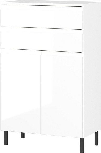 Badezimmer Sets - GERMANIA Badmöbel Set »Scantic«, (Set, 3 tlg), aus Spiegel, Waschbeckenunterschrank, Badkommode, inklusive Beleuchtung, grifflose Optik, MDF Fronten  - Onlineshop OTTO