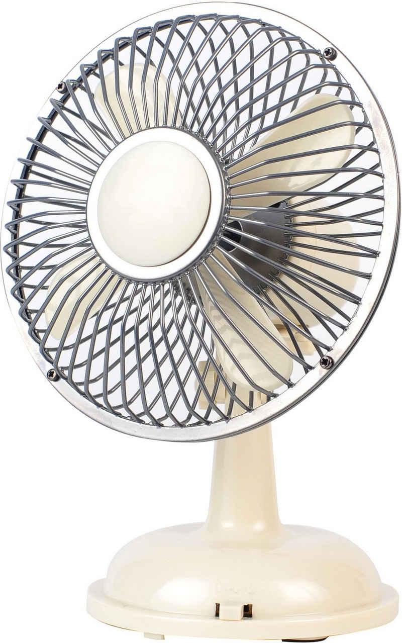 Sonnenkönig Tischventilator Retro Fan weiss