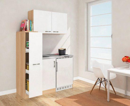 Küchenzeile »MK130ESWOSC«, mit E-Geräten, Gesamtbreite 130 cm