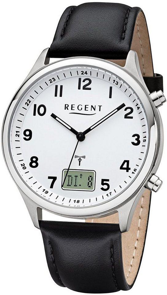 Regent Funkuhr »URBA446 Regent Herren Uhr BA-446 Leder