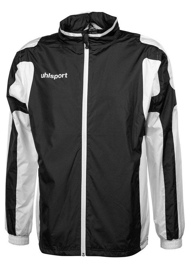 UHLSPORT Cup Regenjacke Kinder in schwarz / weiß