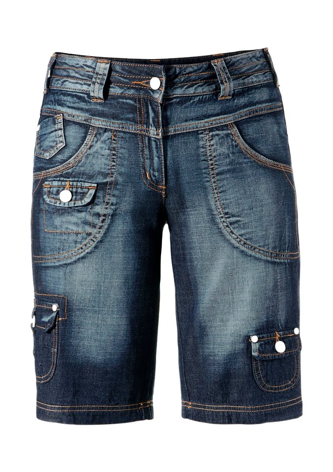 Cheer Jeansbermudas im angesagten 5-Pocket-Style in blue-denim