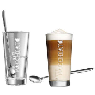 Ritzenhoff & Breker Latte-Macchiato-Tasse »Lena 2er Set mit Löffel«, Glas