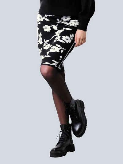Alba Moda Strickrock mit exklusivem Dessin von Alba Moda