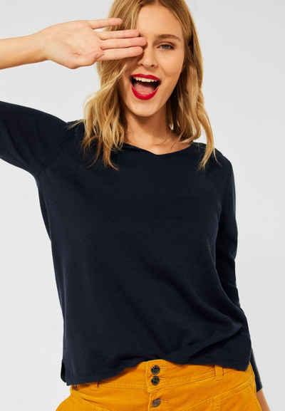 STREET ONE V-Ausschnitt-Pullover Basic
