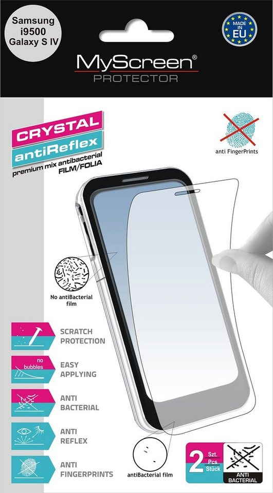 MYSCREEN Schutzfolien Mix »antiBacterial Galaxy S4«