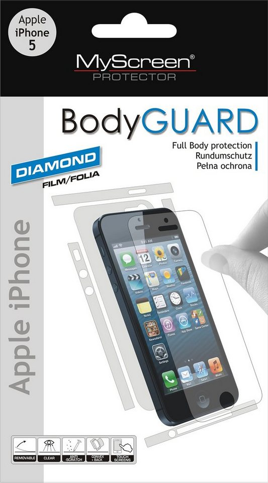 MYSCREEN Schutzfoliensatz »BodyGUARD iPhone 5«