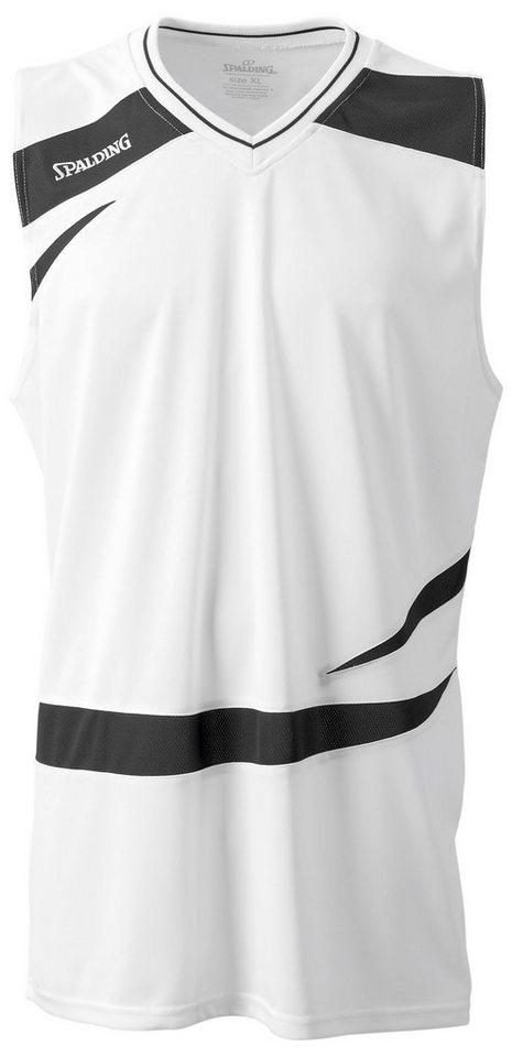 SPALDING Logo 2.0 Tank Top Kinder in weiß / schwarz
