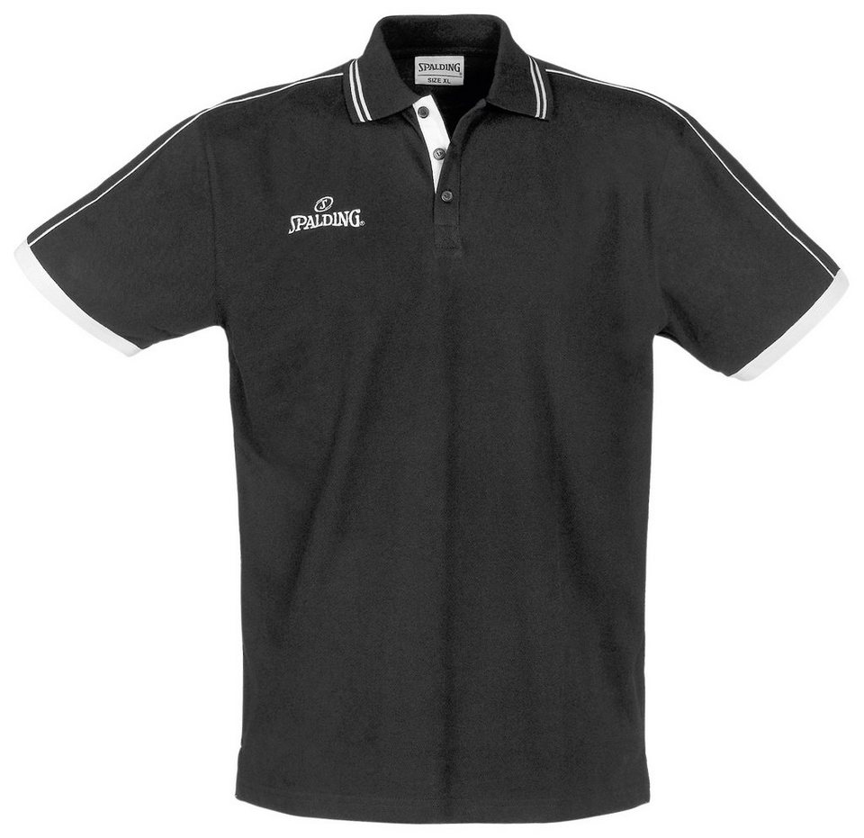 SPALDING Polo Shirt Herren in schwarz