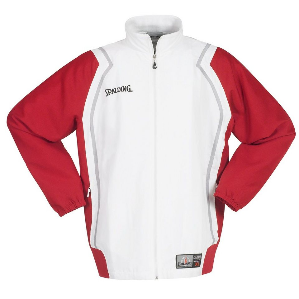 SPALDING Crunchtime Jacket Herren in rot / weiß