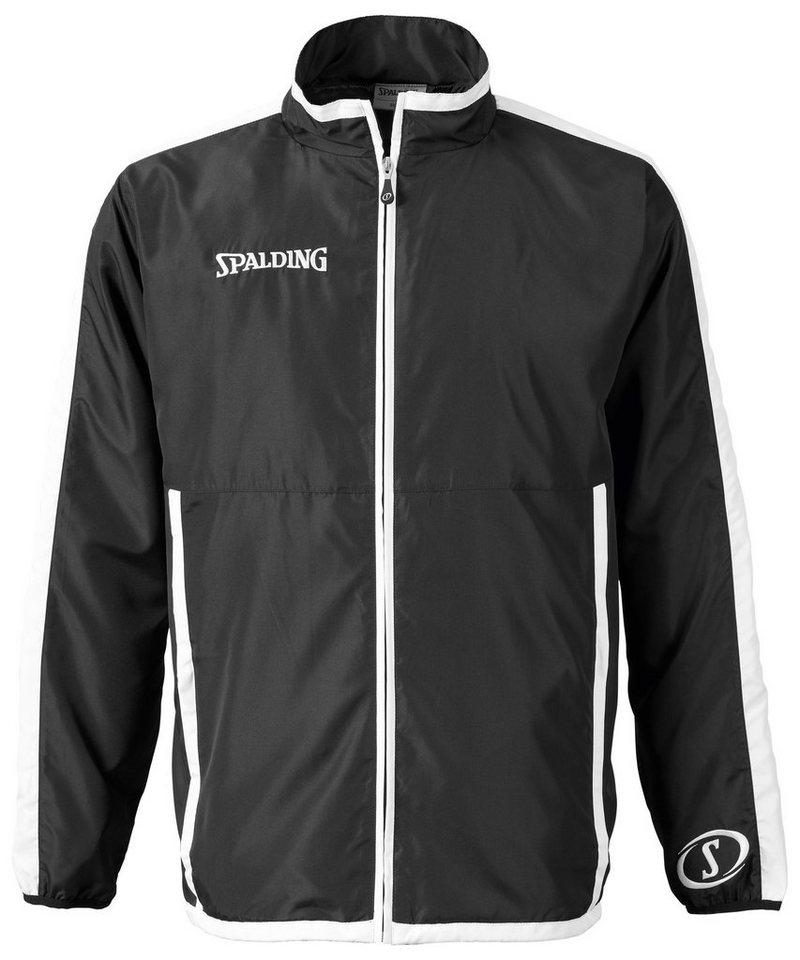 SPALDING Evolution Woven Jacket Kinder in schwarz / weiß