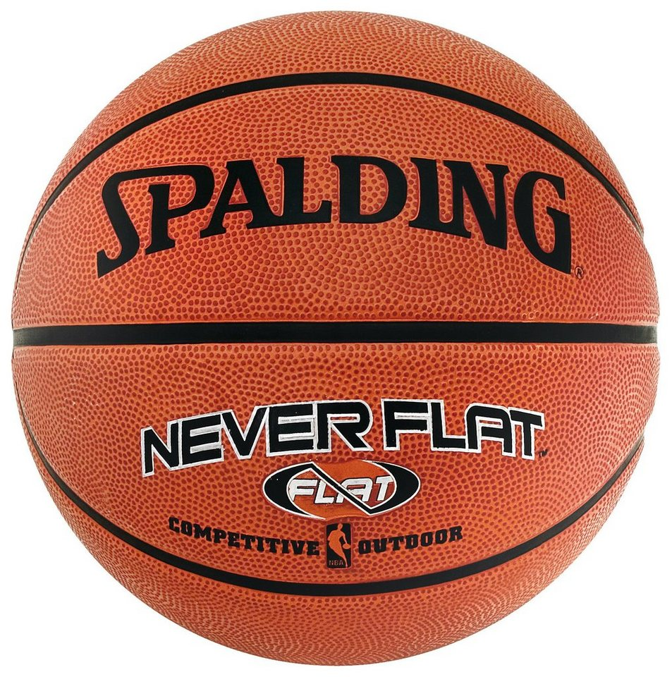 SPALDING NBA Neverflat Outdoor (63-803Z) Basketball in braun / orange