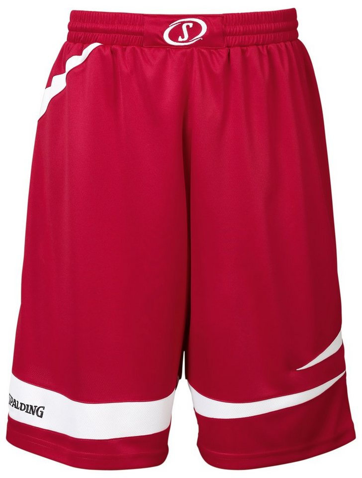 SPALDING Logo 2.0 Shorts Kinder in rot / weiß
