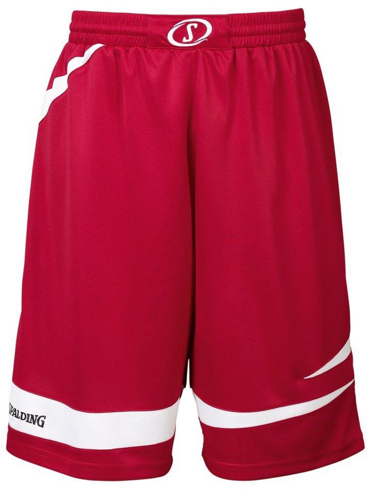 SPALDING Logo 2.0 Shorts Herren in rot / weiß