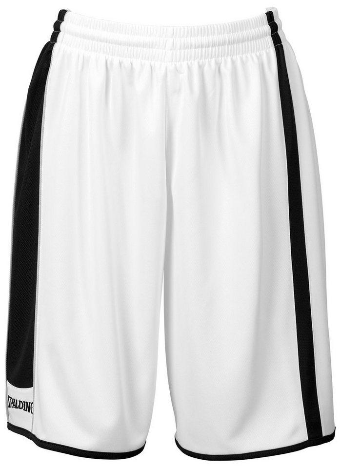 SPALDING 4her Shorts Damen in weiß / schwarz