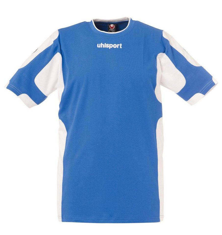 UHLSPORT Cup T-Shirt Herren in azurblau / weiß