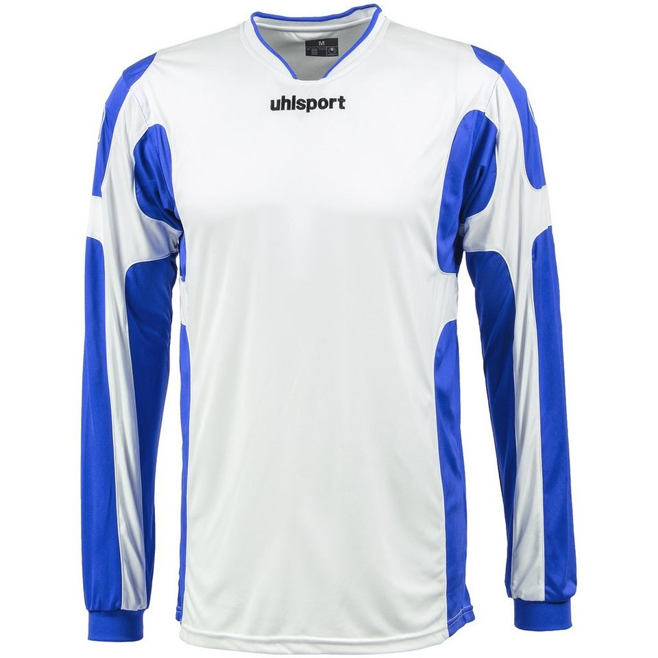 UHLSPORT Cup Trikot Langarm Herren in weiß / azurblau