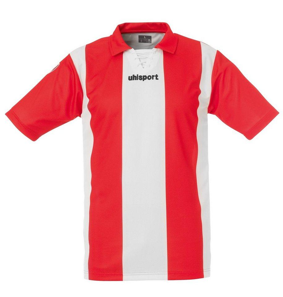 UHLSPORT Stripe Trikot Kurzarm Kinder in weiß / rot