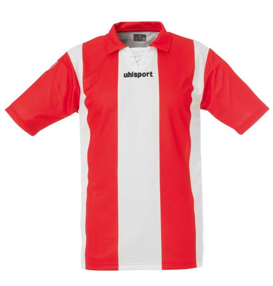UHLSPORT Stripe Trikot Kurzarm Herren in weiß / rot
