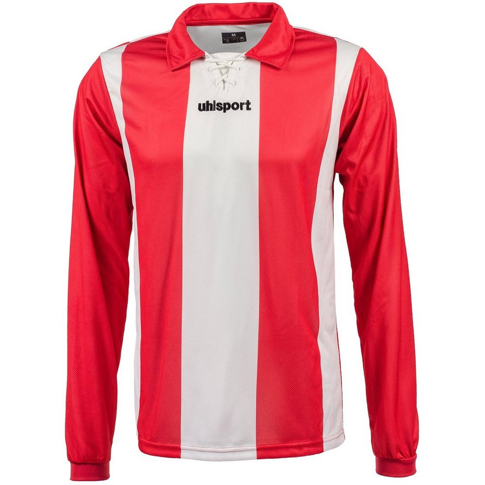 UHLSPORT Stripe Trikot Langarm Herren in weiß / rot
