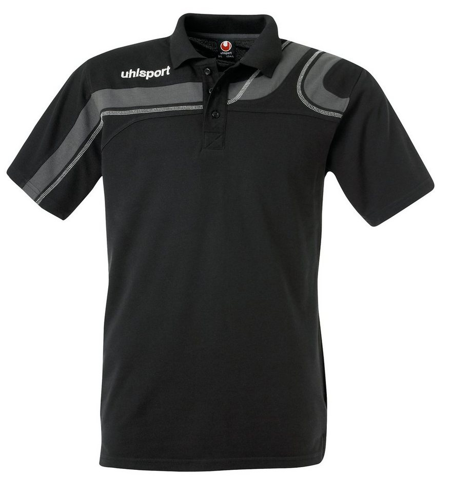 UHLSPORT Progressiv Polo Shirt Herren in schwarz / anthrazit