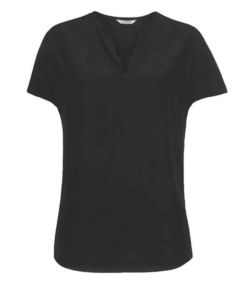 Herrlicher Blusentop »Herrlicher Luzi Blusen-Shirt elegantes Damen Shirt mit ausgestelltem Saum Sommer-Shirt Schwarz«