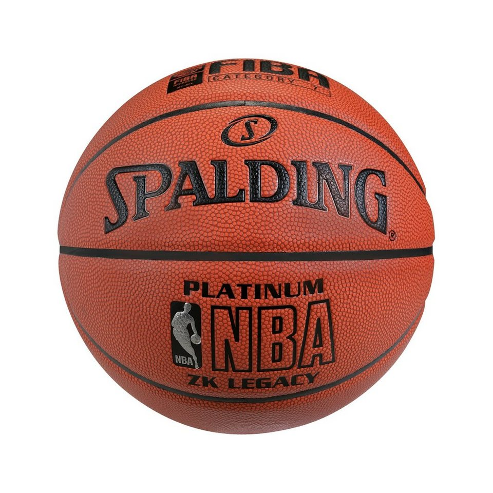 SPALDING NBA Platinum Legacy mit FIBA (74-468Z) Basketball in braun / orange