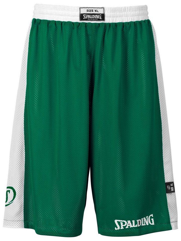 SPALDING Essential Reversible Shorts Kinder in grün / weiß