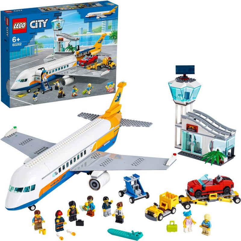 LEGO® Konstruktionsspielsteine »Passagierflugzeug (60262), LEGO® City«, (669 St)