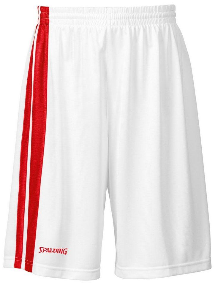 SPALDING MVP Shorts Kinder in weiß / rot