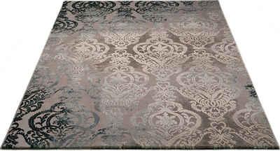 Teppich »Bahar«, merinos, rechteckig, Höhe 12 mm, Vintage Design, Hoch-Tief-Struktur, Wohnzimmer