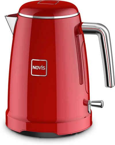 NOVIS Wasserkocher K1 rot, 1,6 l, 2400 W, Metallgehäuse