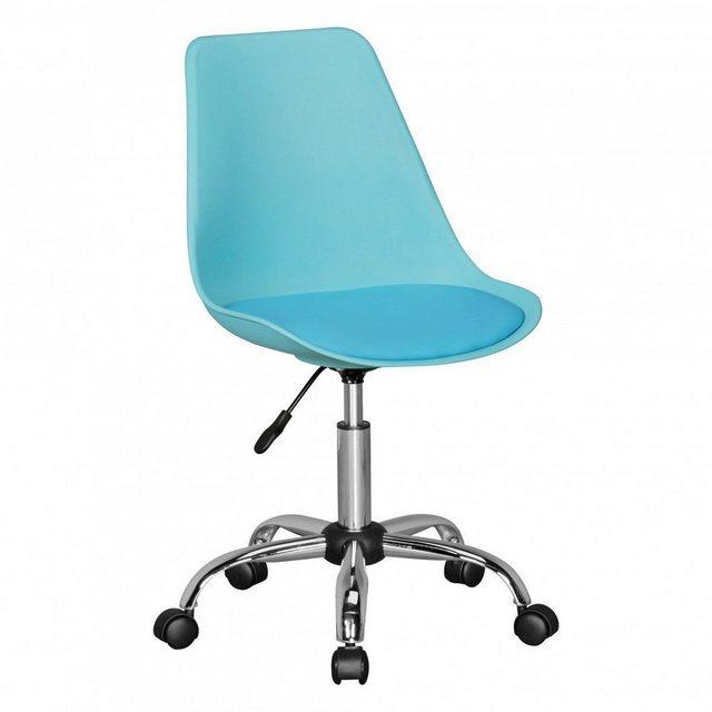 Sitzmöbel - FINEBUY Drehstuhl »SuVa5076 1« HAINAN Drehstuhl mit Kunstleder Sitzfläche Design Drehsessel Wartezimmerstuhl ist höhenverstellbar Schreibtischstuhl mit Rückenlehne Bürostuhl Jugendstuhl mit Schalensitz  - Onlineshop OTTO