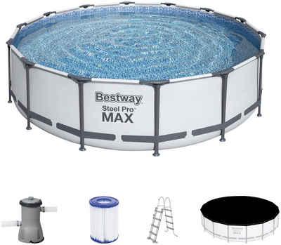 Bestway Rundpool »Steel Pro MAX™ Frame« (Set), ØxH: 427x107 cm