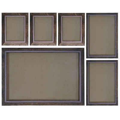 MCW Bilderrahmen »Bilderrahmen Set H250«, (Set), Für Quer- und Hochformat, Mit 2 mm Glasplatte, Mit Seidenband