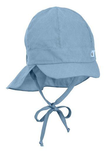 Sterntaler® Schirmmütze »Schirmmütze mit Nackenschutz« (1-St) waschbar, mit Ohrenklappen und Bindeband