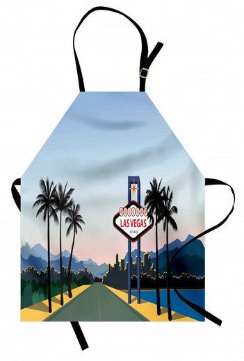 Abakuhaus Kochschürze »Höhenverstellbar Klare Farben ohne verblassen«, Las Vegas Nevada Amerika in Cartoon