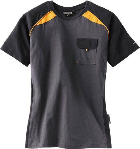 Kurzarmshirt »3816-6310« Mit Brusttasche aus Polyester