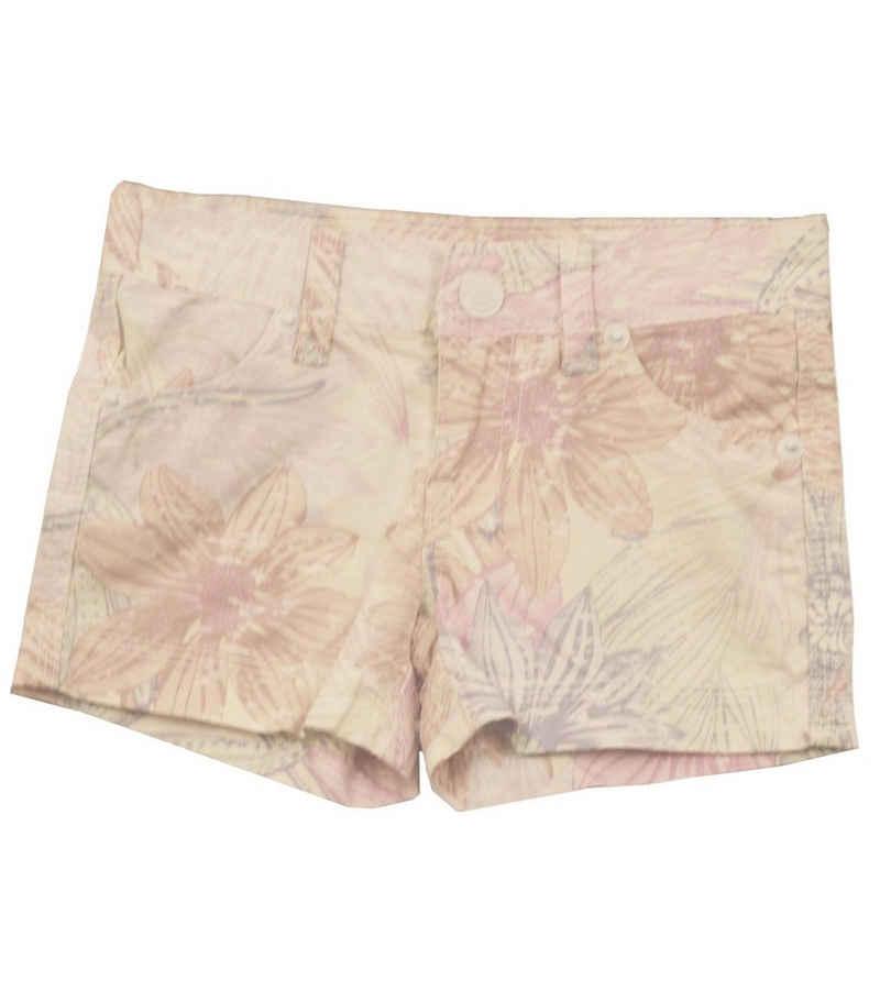 REVIEW Shorts »REVIEW KIDS Shorts stylische kurze Hose für Kinder im floralen Muster Sommer-Shorts Weiß«