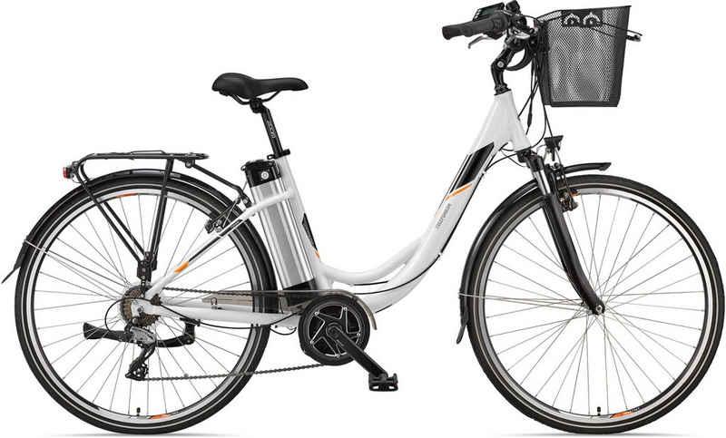Telefunken E-Bike »Multitalent RC860«, 7 Gang Shimano Acera Schaltwerk, Mittelmotor 250 W, mit Fahrradkorb