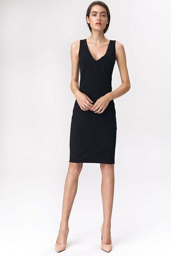 nife Jerseykleid mit raffiniertem Reißverschluss