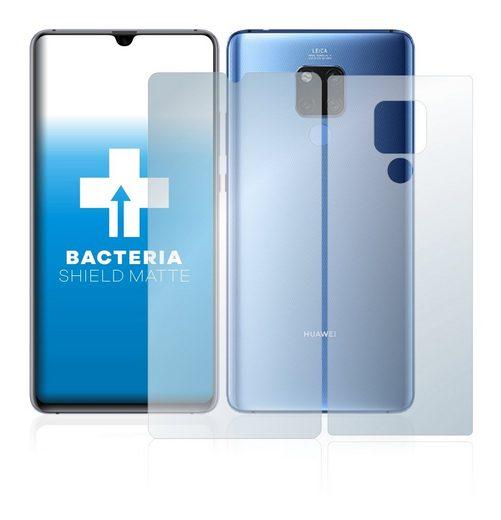 upscreen Schutzfolie »für Huawei Mate 20 X (Vorder + Rückseite)«, Folie Schutzfolie matt entspiegelt antibakteriell