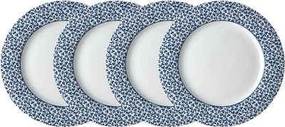 LAURA ASHLEY BLUEPRINT COLLECTABLES Frühstücksteller »Floris«, (4 Stück), Porzellan, 23 cm