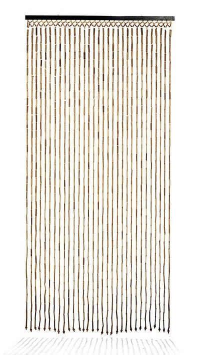 Türvorhang »Bambusvorhang BAMBOO -Braun Natur - 90x210 cm«, Kobolo, Ösen (1 Stück)