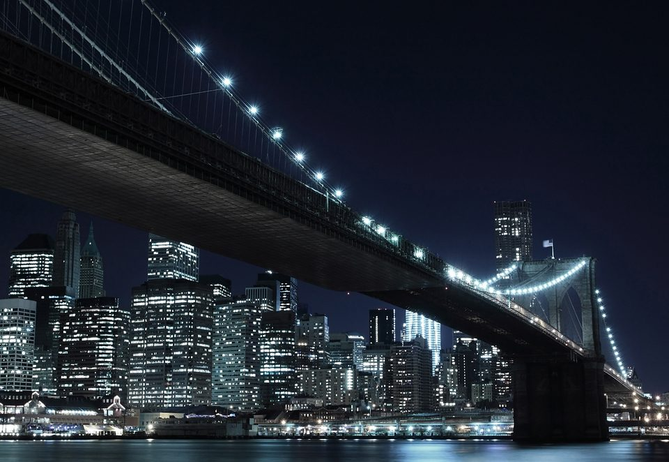 Home affaire Fototapete »New York by night«, Stadt, 272/198 cm